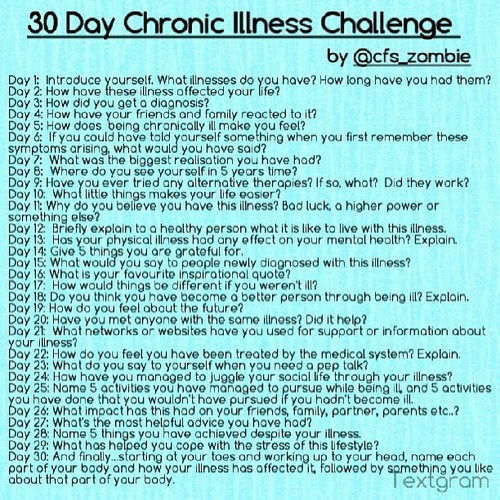 chronic illness and living healthy