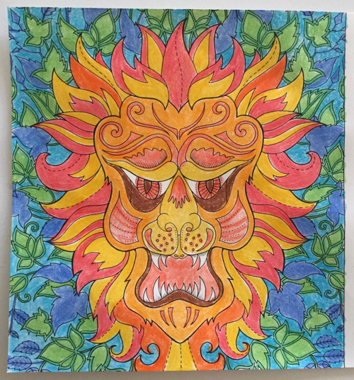 Ive Been Working My Way Through The Pages Of 2018 Johanna Basford Coloring Calendar A Friend Mine Bought It For Me Christmas And Im Really