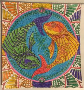 Johanna Basford Coloring Calendar – April