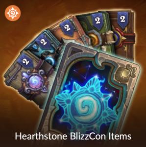 Hearthstone: BlizzCon 2018 Virtual Ticket Items