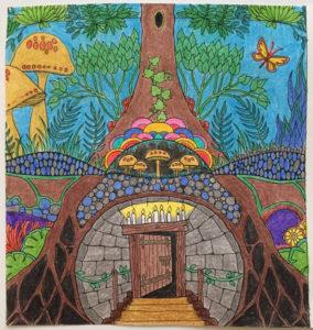 Johanna Basford 2019 Coloring Calendar – April