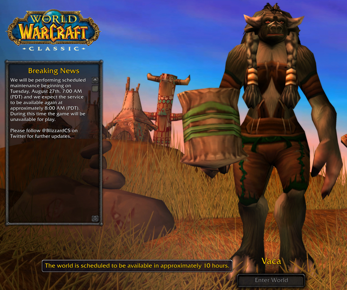 WoW Classic is Live! – Book of Jen