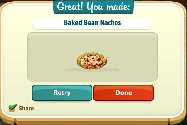 A plate of Baked Bean Nachos
