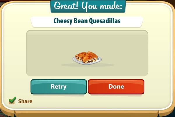 A plate of cheesy bean quesadillas