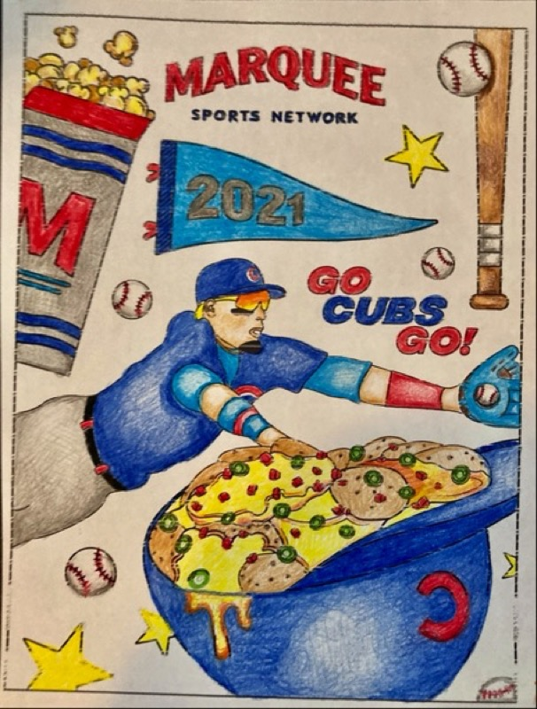 Marquee Sports Javi Baez Coloring Sheet