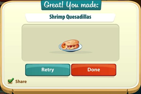 A plate of Shrimp Quesadillas