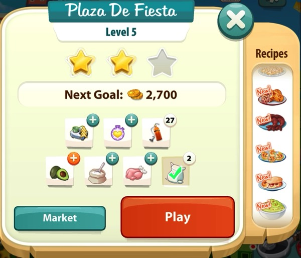 A sign that says Plaza De Fiesta at the top and shows two gold stars.