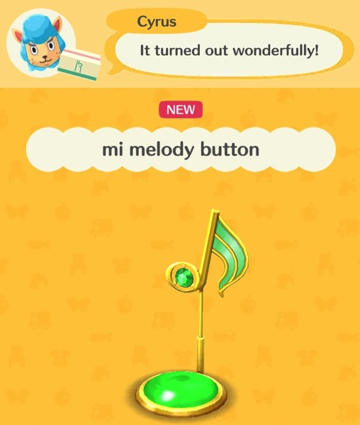 A green musical note hovers over a green button.