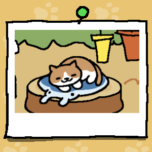 A brown and white cat naps on a gel cooling mat shaped like a Manta Ray.