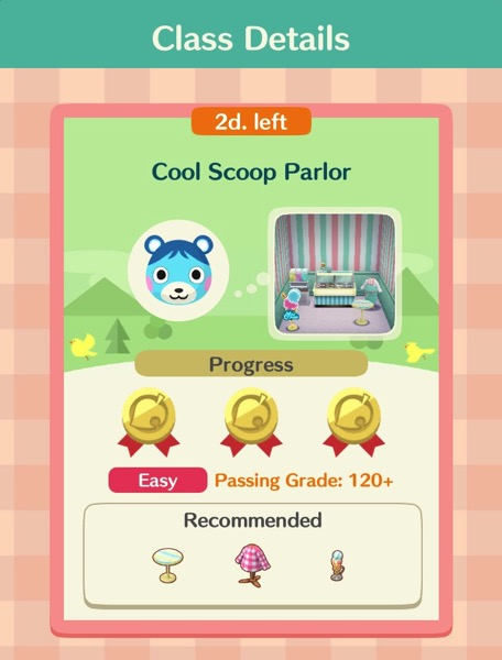 """A box titled """"Cool Scoop Parlor"""". A box inside that one shows the items that this class requires."""
