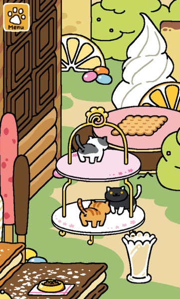 One cat on the top tier. Two cats on the bottom tier.