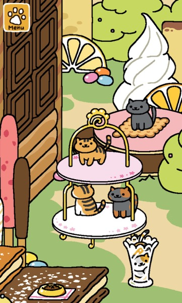 One cat on the Biscuit Mat. Three cats on the Tower of Treats. One cat squished inside a Glass Vase.