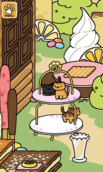 Two cats are on top of a cake tier. One cat is on the bottom tier.
