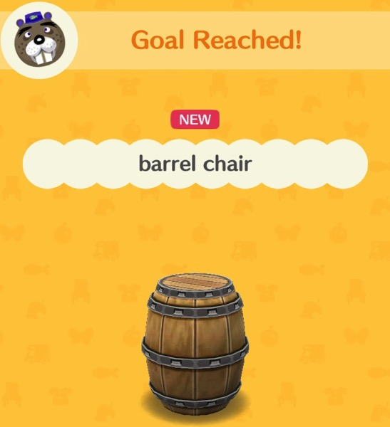 A nicely crafted wooden barrel with metal rings around it to keep things in place. It is intended to be sat on like a chair.