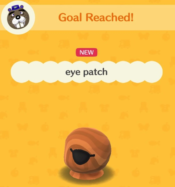 A black eye patch that covers one eye.