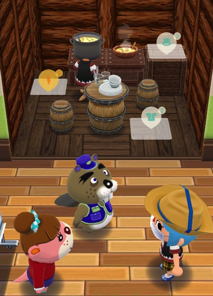 My Pocket Camp character stands in front of Chip and Lottie. She is the one in charge of these classes.