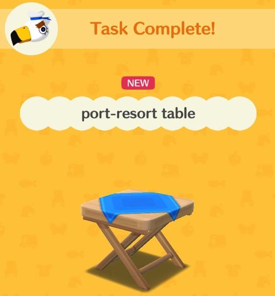 port-resort table