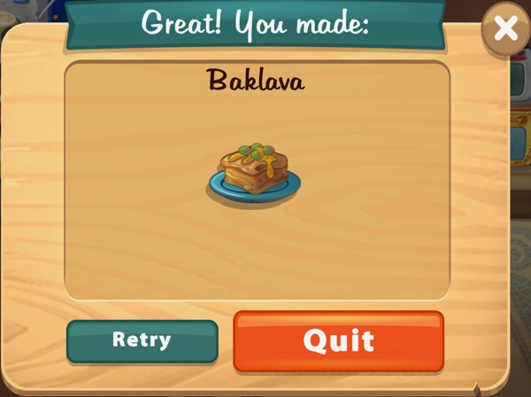 Baklava is a Greek dessert.