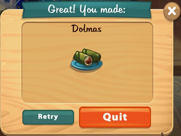 Dolmas contain meat and rice.