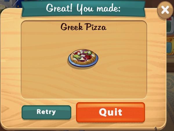 Greek Pizza includes cut veggies, feta cheese, and a flat bread.