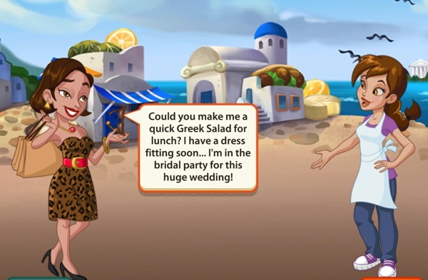 The Fashionista asks Pepper to make her a Greek Salad.