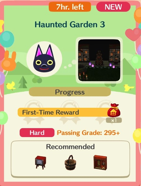 Haunted Garden 3 is the final class in this series. The box shows three of the many items required for this class.