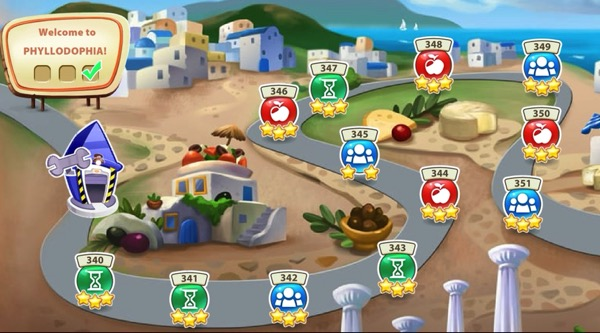 The town of Phyllodophia has a series of levels that are sitting on a curving road. Each level has at least two stars (after I completed it).