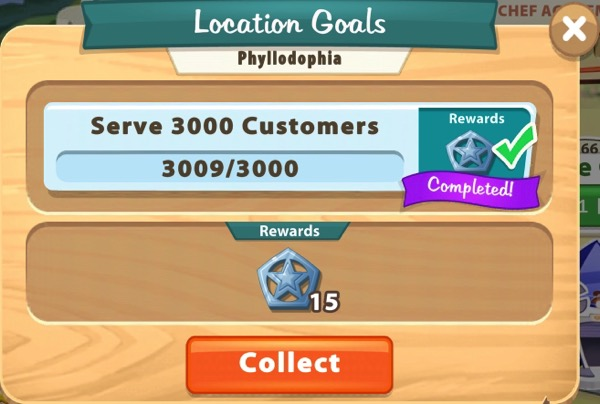 I served over 3000 customers in Phyllodophia.