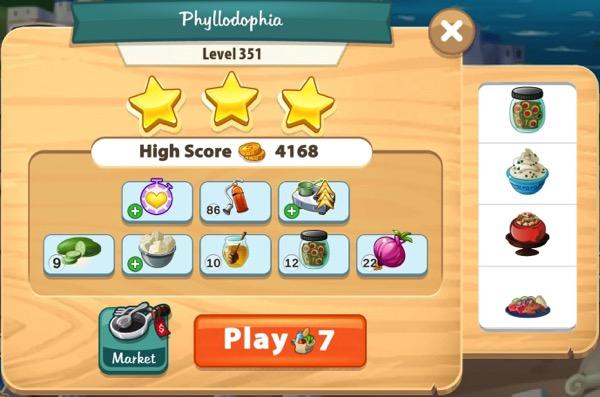 I got three stars in Level 351.