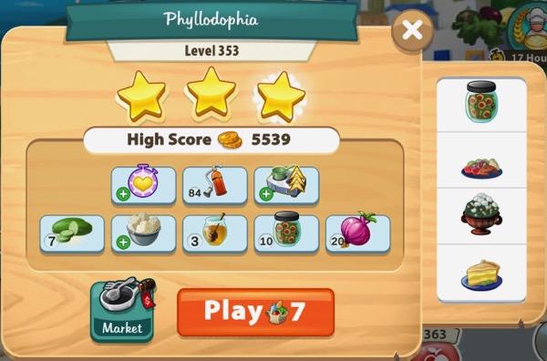 I got three stars in Level 353